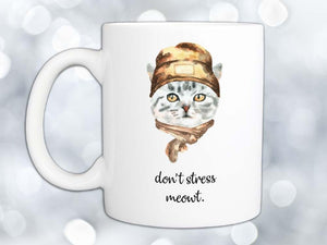 Don't Stress Meowt Cool Cat Coffee Mug,Coffee Mugs Never Lie,Coffee Mug