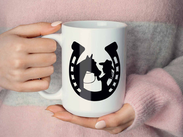 Horseshoe Cowgirl Coffee Mug