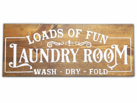 Loads of Fun Laundry Sign