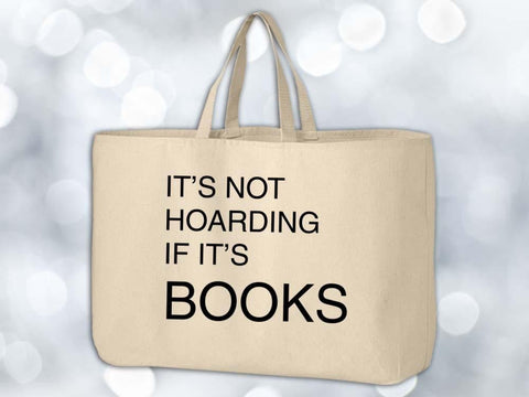 Hoarding Books Grocery Tote Bag,Coffee Mugs Never Lie,Grocery Tote Bag