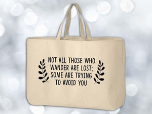 Not All Who Wander Grocery Tote Bag,Coffee Mugs Never Lie,Grocery Tote Bag