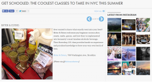 GET SCHOOLED: THE COOLEST CLASSES TO TAKE IN NYC THIS SUMMER