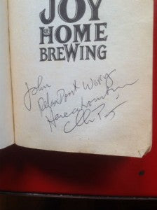 Signed Joy of Home Brewing Small