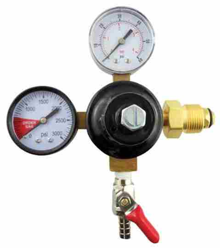 Taprite Nitrogen Regulator w/5/16 Shutoff, 60# & 2000# Gauge-Regulator