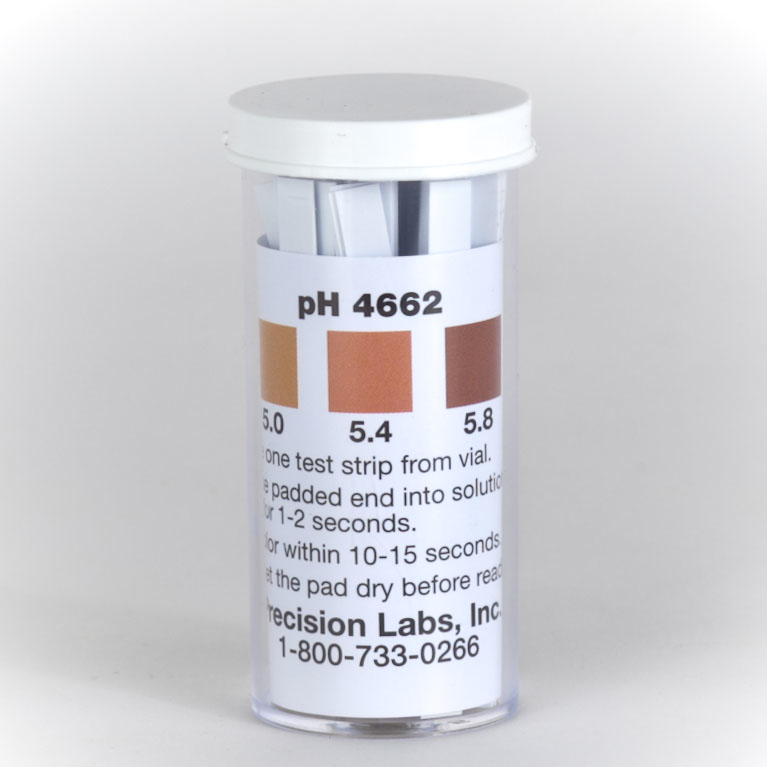 Beer pH Test strips- 100/vial (Range 4.6 - 6.2)-ph Strips