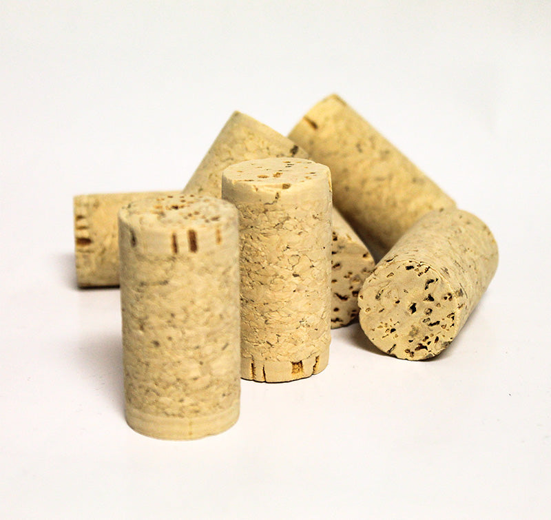 8 x 1 3/4 First Quality Straight Wine Corks (30/Bag)-Equipment