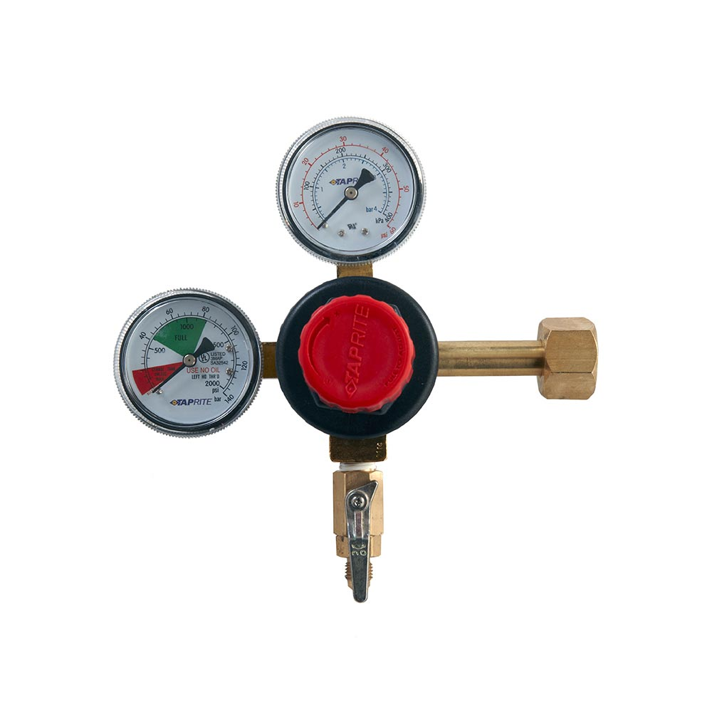 Premium CO2 Regulator – Dual Gauge – MFL Outlet – Shutoff
