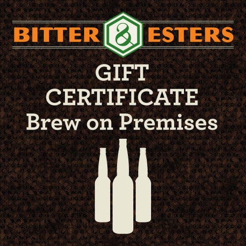 Gift Certificate - Brew on Premises