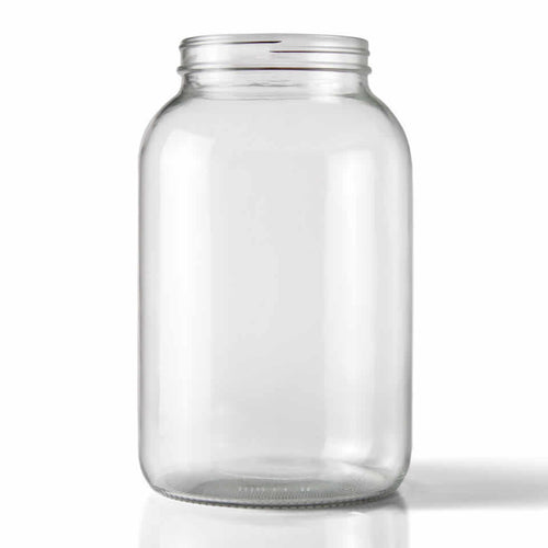 One Gallon Wide Mouth Clear Glass Jar-Equipment