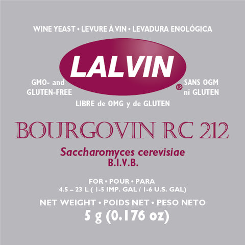 Lalvin RC-212 - Dry Wine Yeast