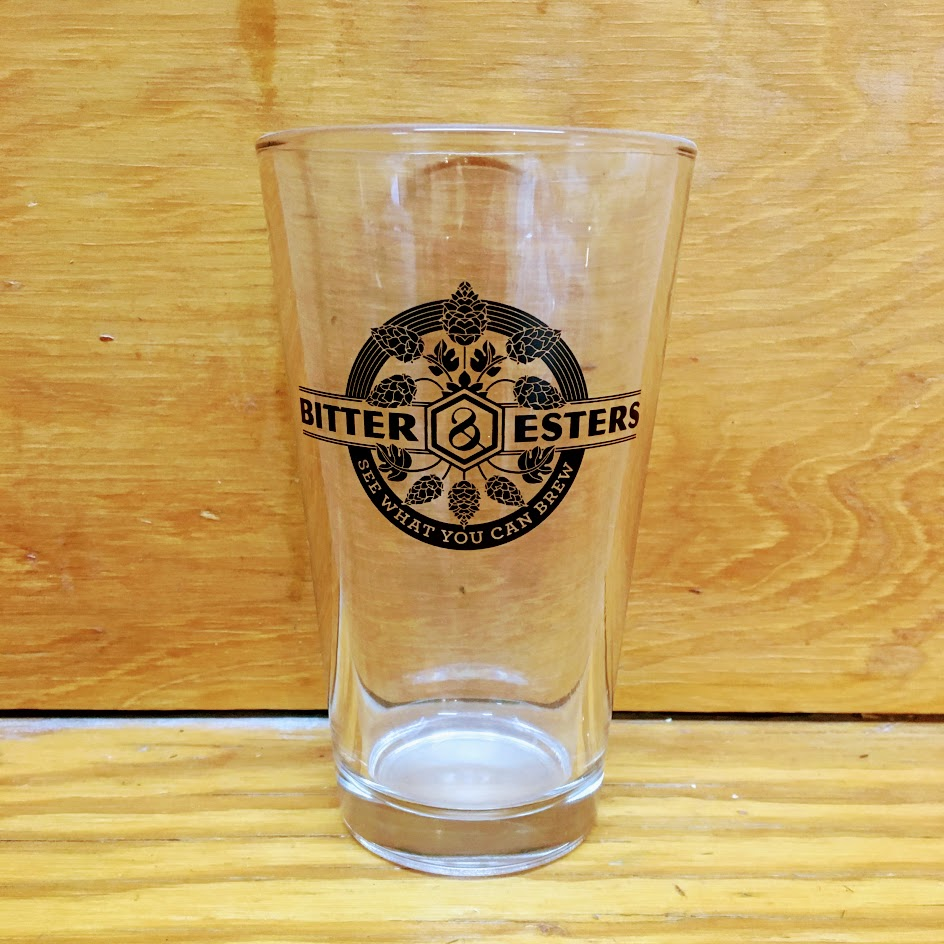 Bitter & Esters Pint Glass-Beer Glass
