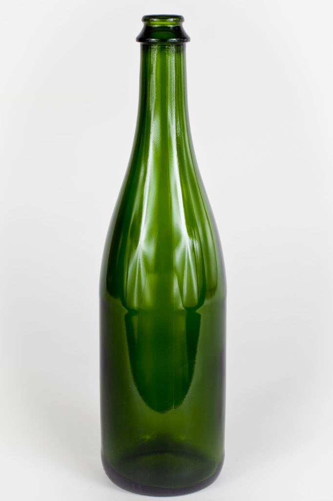 Champagne Bottle - Green - 750ml - Case of 12-Bottle