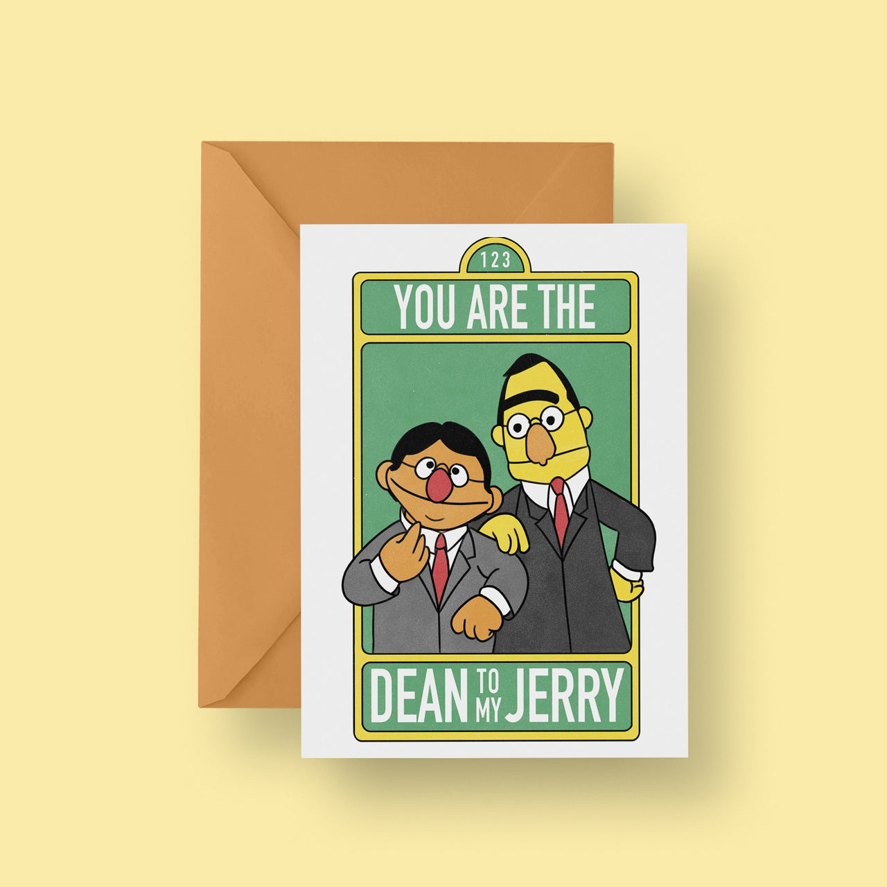You Are The Dean To My Jerry Greeting Card Kerris Ganeson Illustration
