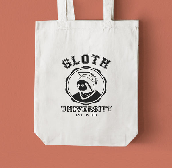 Sloth University Graduate Tote Bag