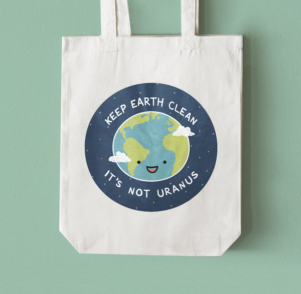 Keep Earth Clean Tote Bag