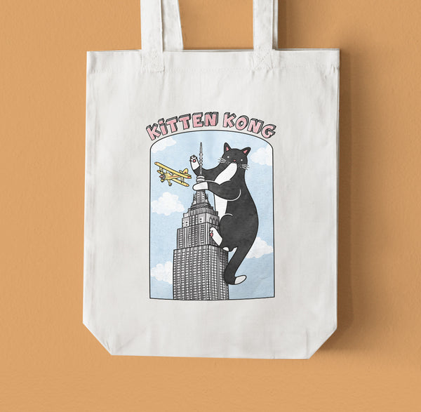 Kitten Kong Tote Bag