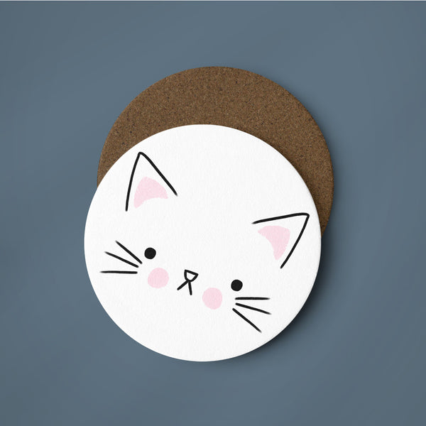 Cat Face Coaster