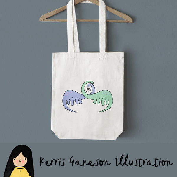 Long Neck Loving Tote Bag