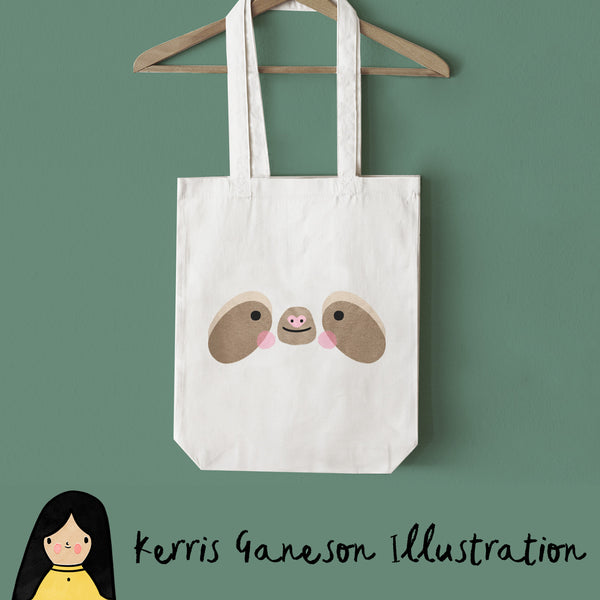 Sloth Face Tote Bag