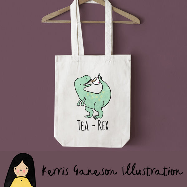 Tea Rex Tote Bag