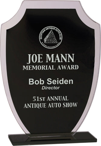 Black Shield Reflection Glass Award