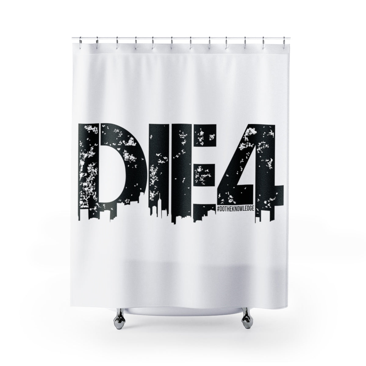 Die4 Shower Curtains