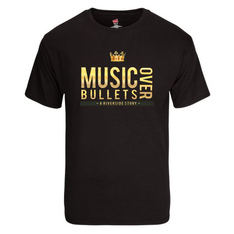 Music Over Bullets Men's T-Shirt