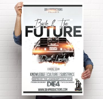 Diar Lansky - Back 2 The Future Poster