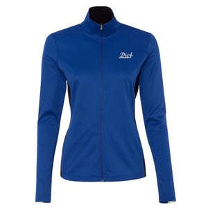 Die4 Sports Stripe Ladies' Colorblocked Performance Full-Zip Sweatshirt