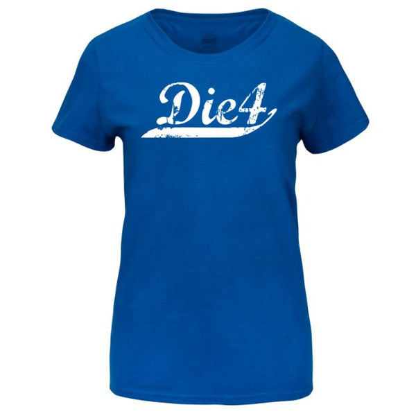 Die4 Sports Stripe Ladies Heavy Cotton HD Short Sleeve T-Shirts