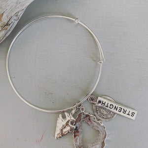 Jools & Joplin - Silver Charmed Bangle - Silver