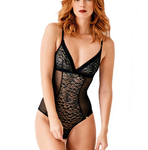 Pretty Polly - Mesh Bodysuit - Black