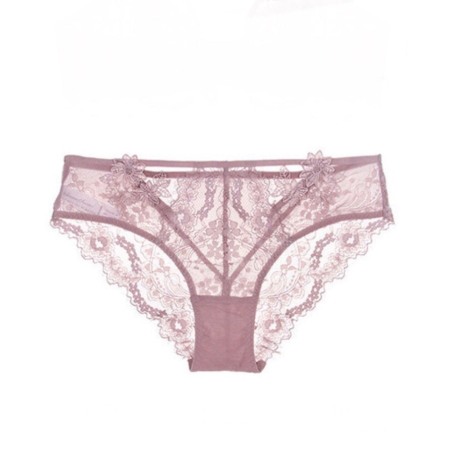 About the Bra - Flora Applique Brief - More Colors