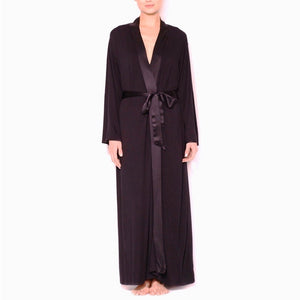 Fleurt - Long Robe - Black
