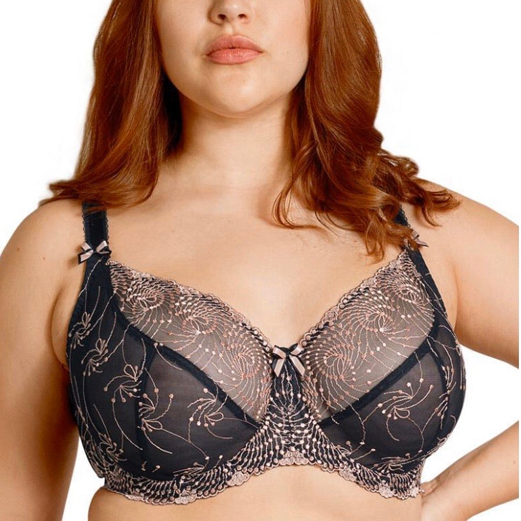 Fit Fully Yours - Nicole Shear Bra - Black Rose Gold