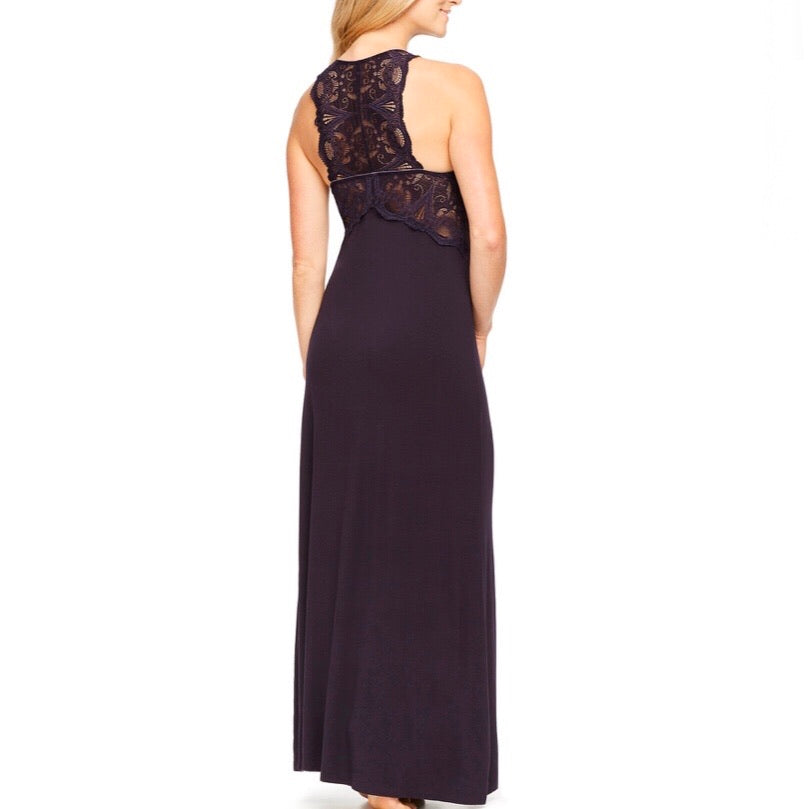 Fleurt - T-Back Lace Gown - Black
