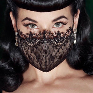 Dita Von Teese - Vedette Lace Mask - Black