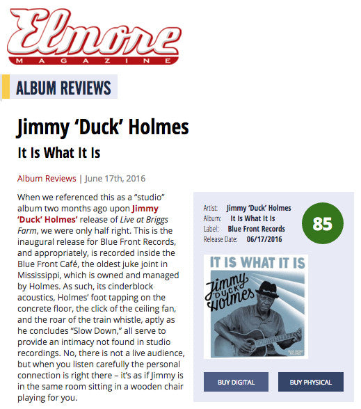 Jimmy's New Album Gets Reviewed by Elmore Magazine!