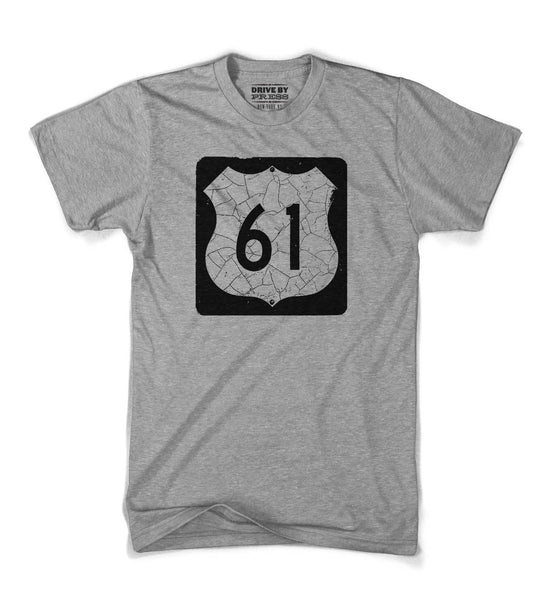 The Blues Highway Sign Tee - Grey