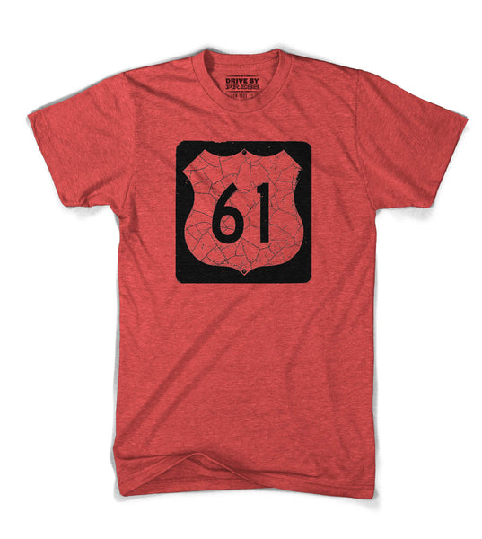 The Blues Highway Sign Tee - Red