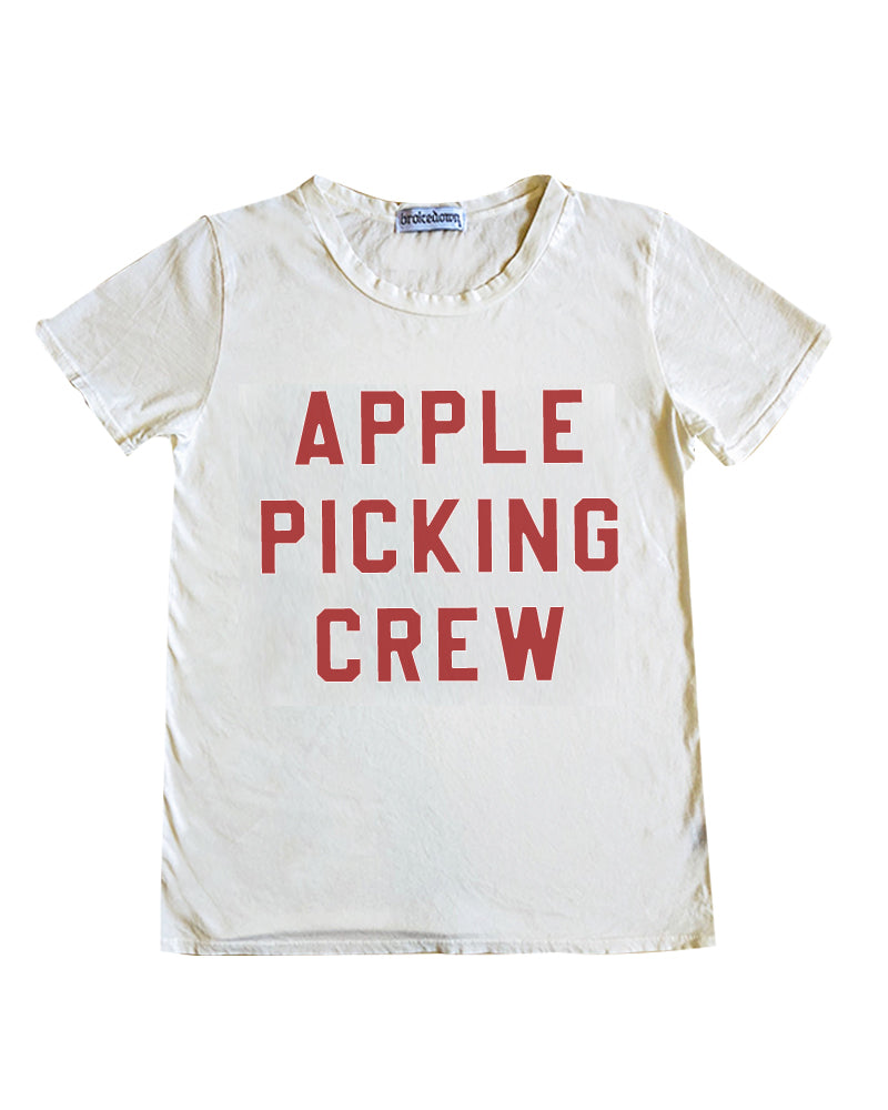Women's Apple Picking Tee in Off White, XS-XL