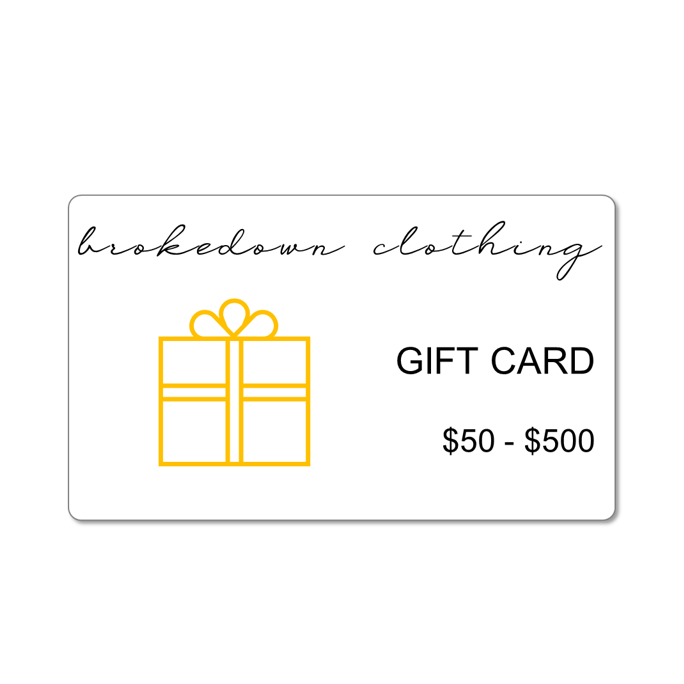 Brokedown Clothing Gift Cards