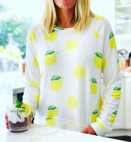 Women's Lemon Sweatshirt in White