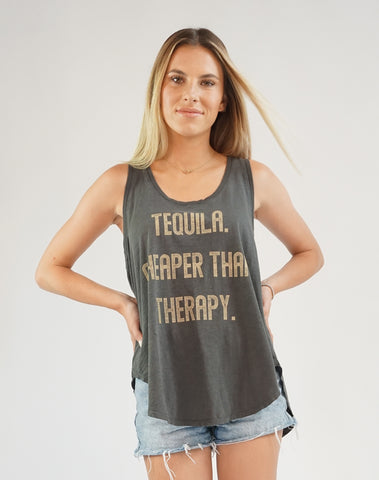 Women's Tequila Cheaper Than Therapy, 100% Cotton, Size XS-L | Brokedown Clothing