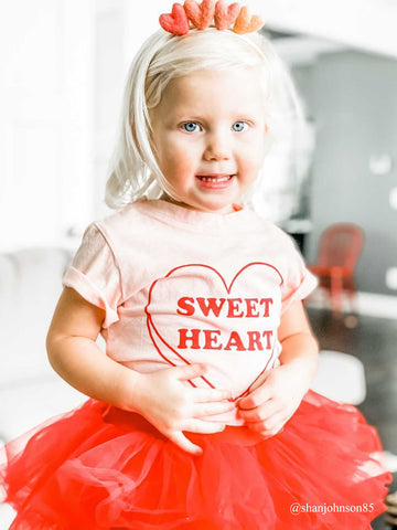 Sweetheart Tee in Light Pink