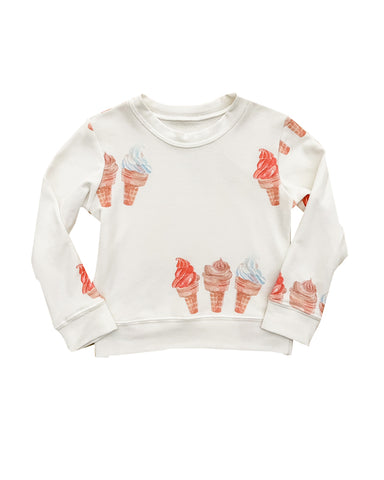 Ice Cream Sweatshirt in off white