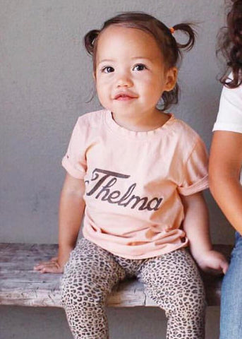 Girl's Thelma T-Shirt, Super Soft 100% Organic Cotton, Sizes 3M - 12 | Brokedown Clothing