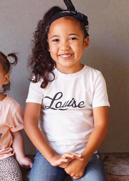 Girl's Louise T-Shirt, Super Soft 100% Organic Cotton, Sizes 3M - 12 | Brokedown Clothing