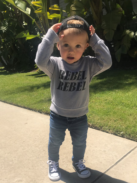 Rebel, Rebel Kids Sweatshirt in Grey
