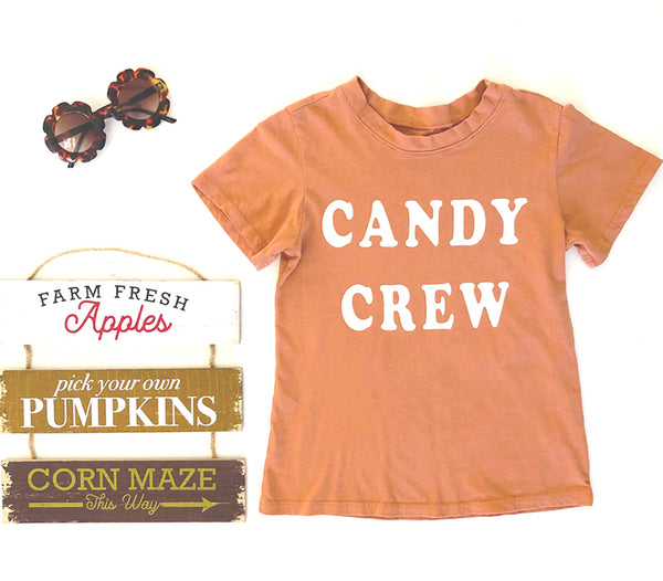 Candy Crew Tee in Copper, 6mo-10year